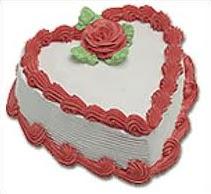 Standart kalp yaş pasta