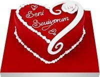 Balgat Pastane pastanesi , pastaneler  Seni seviyorum yazili kalp yas pasta